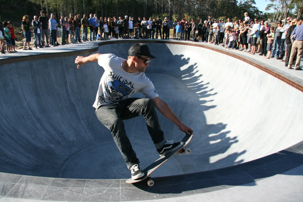 MAZ Skate Park Opening Day Photos Frontside Grind