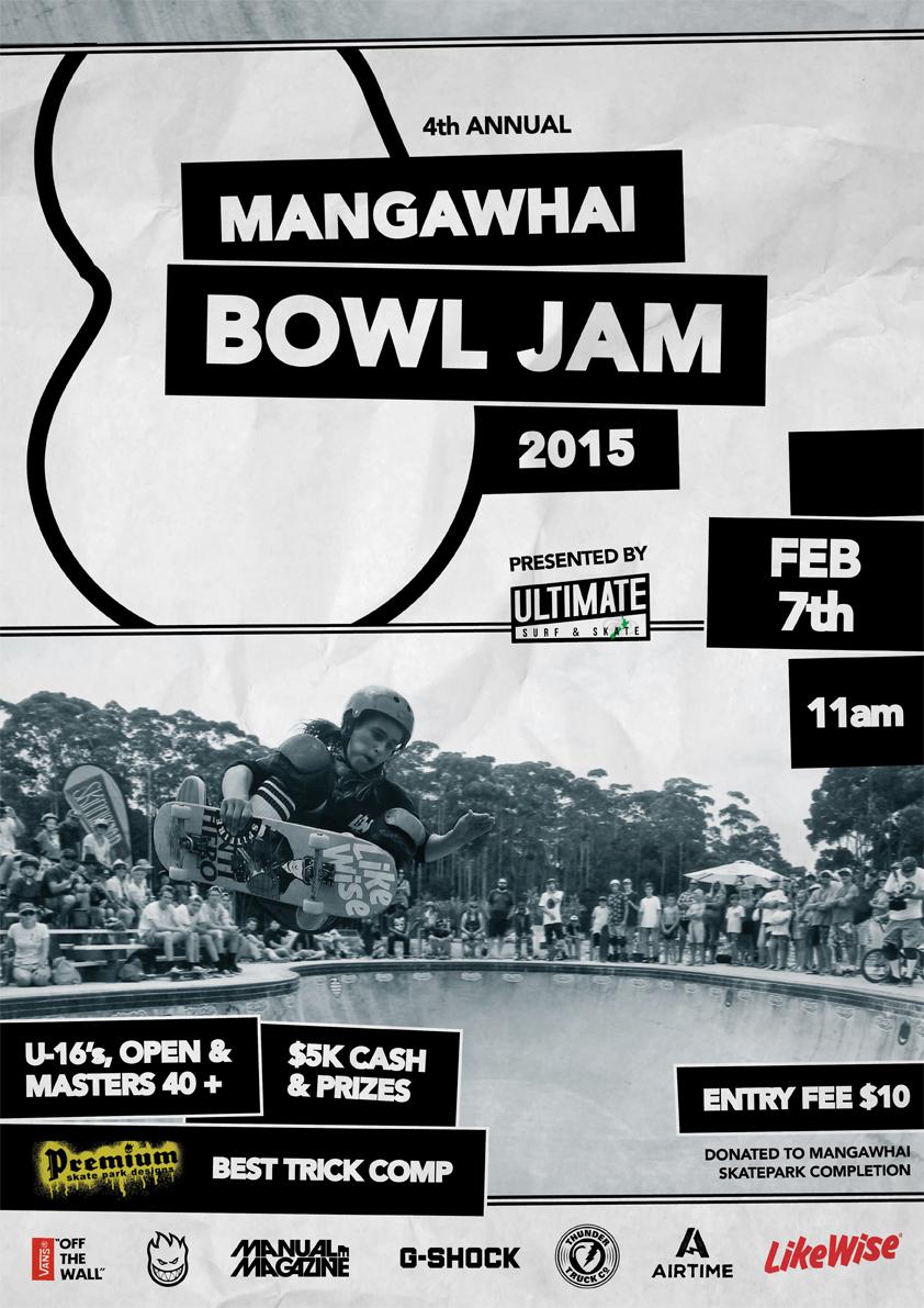 4th Annual Mangawhai Bowl Jam 2015