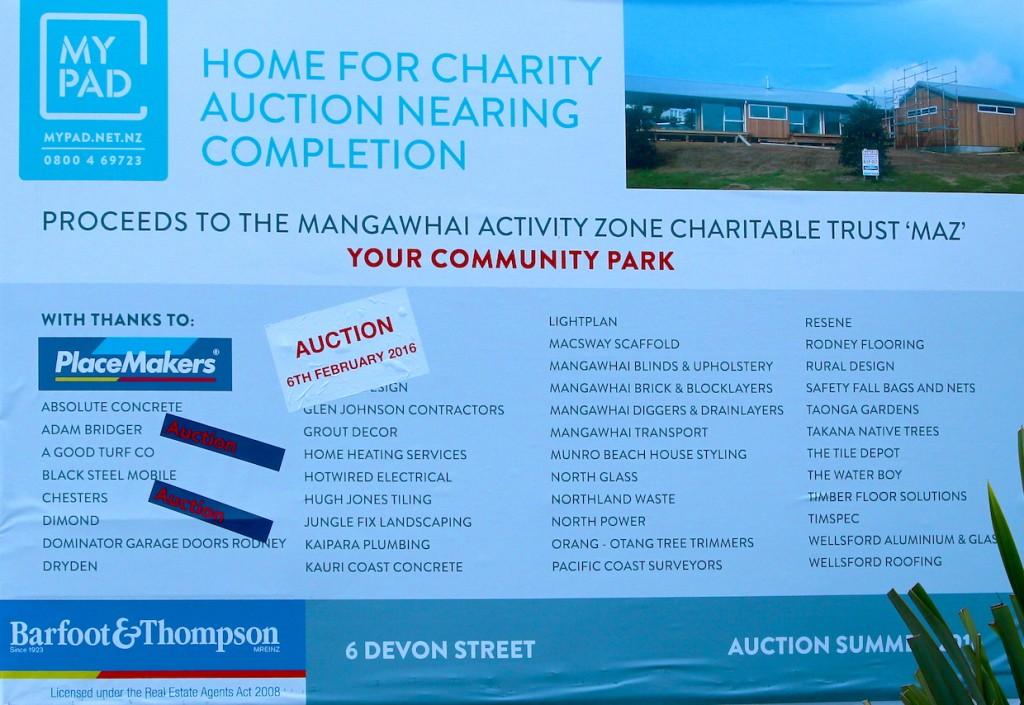 MAZ MyPad Charity House Auction