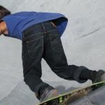 Local Skateboarder in Big Skate Bowl
